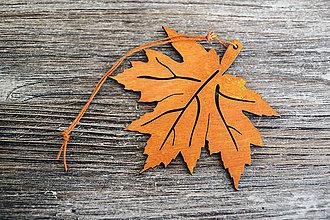 Dekorácie - List jesenný Javor - 7218169_