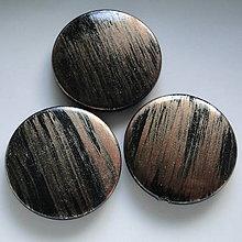 Korálky - Metalíza plast 31mm-1ks (medená) - 7220657_