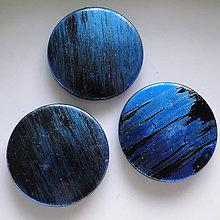 Korálky - Metalíza plast 31mm-1ks - 7220672_