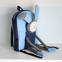 Detské tašky - RUKSAK so ZAJKOM modrý 2,5r. - 7217983_