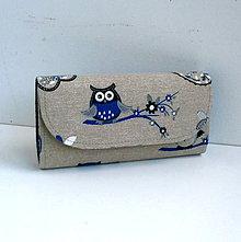 Peňaženky - Peňaženka - Modrá sovička - 7220042_