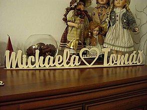Darčeky pre svadobčanov - Nápis na svadobný stôl - 7220396_