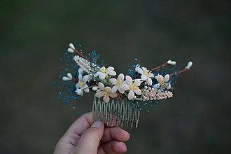 Ozdoby do vlasov - Kvetinový hrebienok