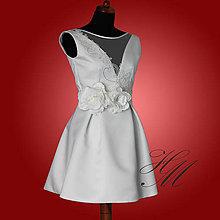 Šaty - Svadobné šaty krátke 2 - 7217369_