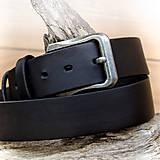 Opasky - Black - poctivý kožený opasok v šírke 4cm - 7217413_