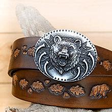 Opasky - Zdobený opasok s Medveďom /šírka 4cm/ - 7217405_