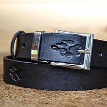 a387bc8e1 Kožený opasok 2cm čierny. / Mrenica - SAShE.sk - Handmade Opasky