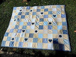 Úžitkový textil - Belasý patchwork - 7222252_