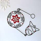 Dekorácie - dekorácia s hviezdičkou a zvončekom / Vianoce/ - 7222909_