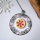 Dekorácie - vianočná dekorácia vločka - 7223070_