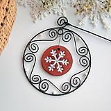 Dekorácie - vianočná dekorácia s medovníčkom - 7223119_