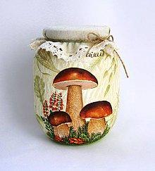 Nádoby - Pohár na sušené hríbiky - 7224075_