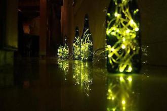 Svietidlá a sviečky - Champagne lampa - 4456335_