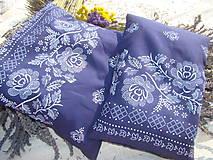 Úžitkový textil - Levanduľový folklórčok - 7221573_