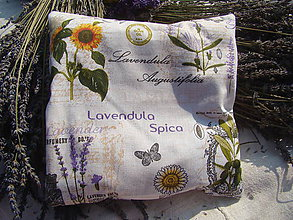 Úžitkový textil - Levanduľový vankúš - 7221607_
