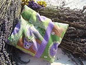 Úžitkový textil - Levanduľový vankúš - 7221639_