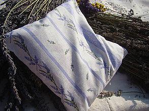 Úžitkový textil - Levanduľový vankúš - 7222294_