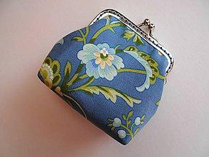 Peňaženky - Minipeňaženka kvety - 7224038_