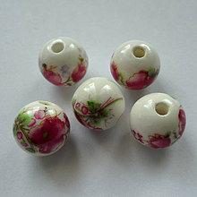 Korálky - Porcelán 12mm-1ks - 7221992_