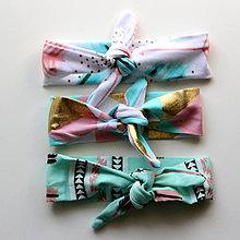 Detské doplnky - Dievčenské textilné čelenky Boho štýl - 7223786_
