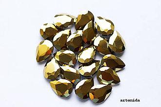 Komponenty - kabošon gold drop 14x10 - 7223473_