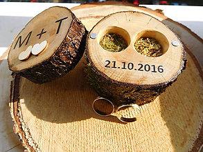 Prstene - vintage krabička na svadobné prstienky 5 lakovaná - 7224111_