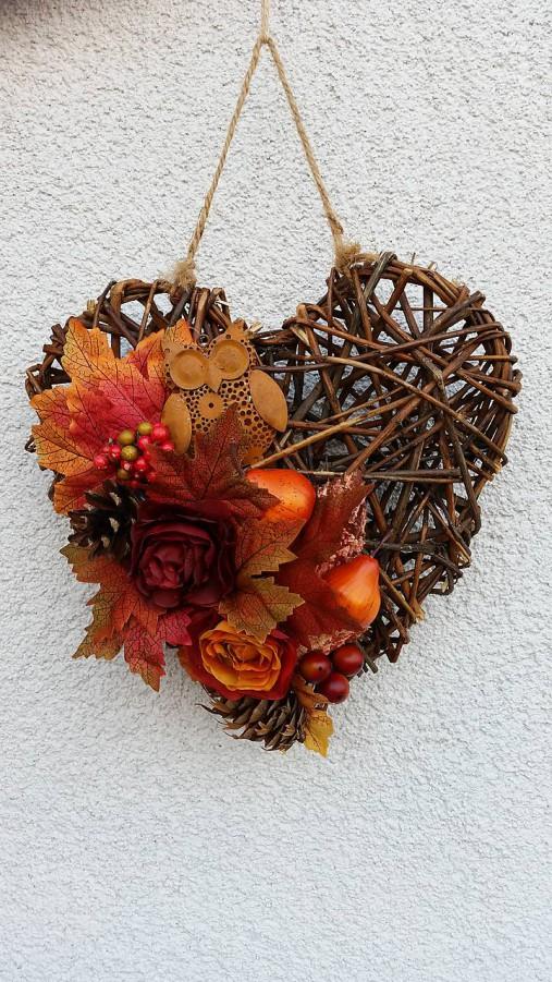 Jesenné prútené srdce   Samireli - SAShE.sk - Handmade Dekorácie a0e9f863a21