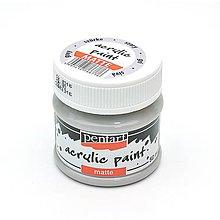 Farby-laky - Akrylová farba matná- sivá - 7222060_