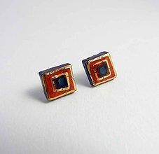 Náušnice - Tana šperky - keramika/zlato - 7222578_