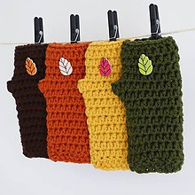 Rukavice - háčkované rukavičky Jesienky - 7221715_