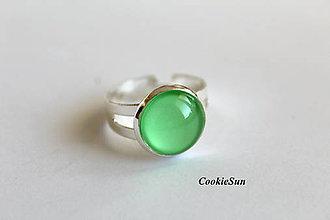 Prstene - Prsteň Shiny Green - 7222595_