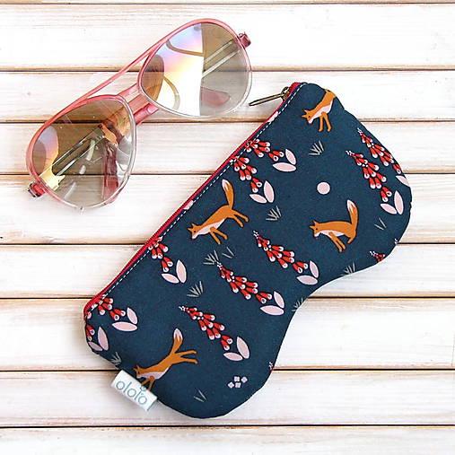 41ef41715 Púzdro na okuliare s líškami na zips / ololo - SAShE.sk - Handmade ...