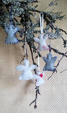 Dekorácie - vianočné ozdoby - anjeliky - 7222686_