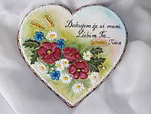 Dekorácie - Srdce s lučnou kyticou - 7225727_