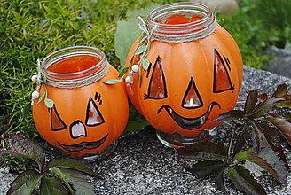 Svietidlá a sviečky - Halloweenske svetielko... - 7225566_