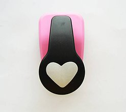 Pomôcky/Nástroje - Dierovačka na hrubší papier, moosgummi - 25 mm, srdce, srdiečko - 7224571_