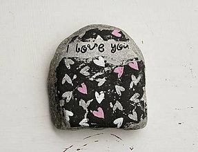Dekorácie - Prírodný kameň – mini srdiečka - 7226214_