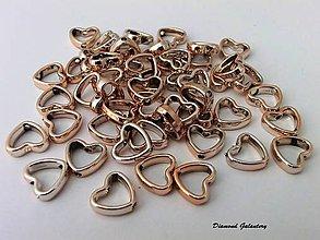 Korálky - Srdiečko akrylové 12 mm - 7225263_