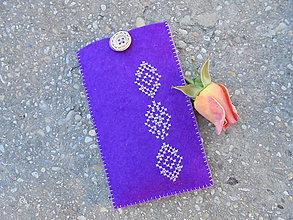 Na mobil - Filcové púzdro na mobil - purple & folk - 7225720_