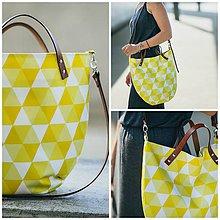 Kabelky - Design kabelka žluté šestiúhelníčky - 7224408_