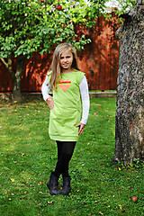 Detské oblečenie - tuniko-šaty ( hranaté srdce) - 7227974_