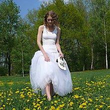 Sukne - Biela tylová sukňa - 7227940_