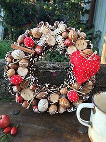 Dekorácie - Vianočný venček Bodkáčik ll. - 7226423_