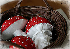 Dekorácie - hríbik muchotrávka - 7226835_