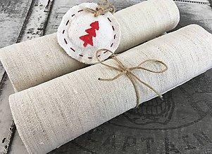 Úžitkový textil - Vianočné prestieranie NATUR - 7225299_