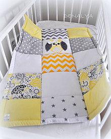 Textil - Deka Sovička Žltá 70x90cm - 7229342_