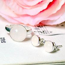 Sady šperkov - Elegant Rose Quartz Silver Set Ag 925 / Strieborný elegantný set s ruženínom - 7231969_