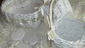 Košíky - Svadobná súprava - Ivory - 7229580_