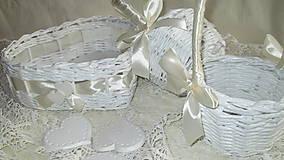Košíky - Svadobná súprava - Ivory - 7229582_
