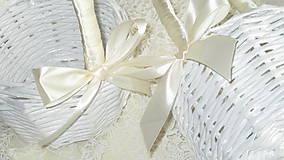 Košíky - Svadobná súprava - Ivory - 7229593_